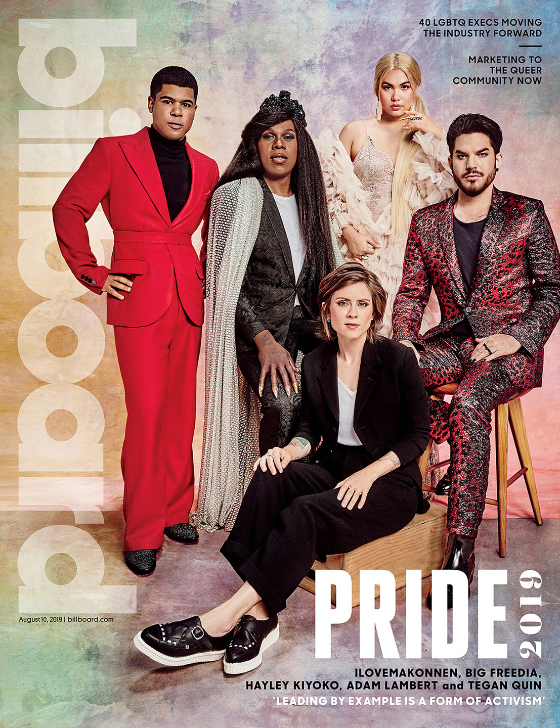 Billboard Magazine PRIDE Summit Roundtable Cover Big Freedia, ilovemakonnen, Hayley Kiyoko, Adam Lambert, Tegan Quin