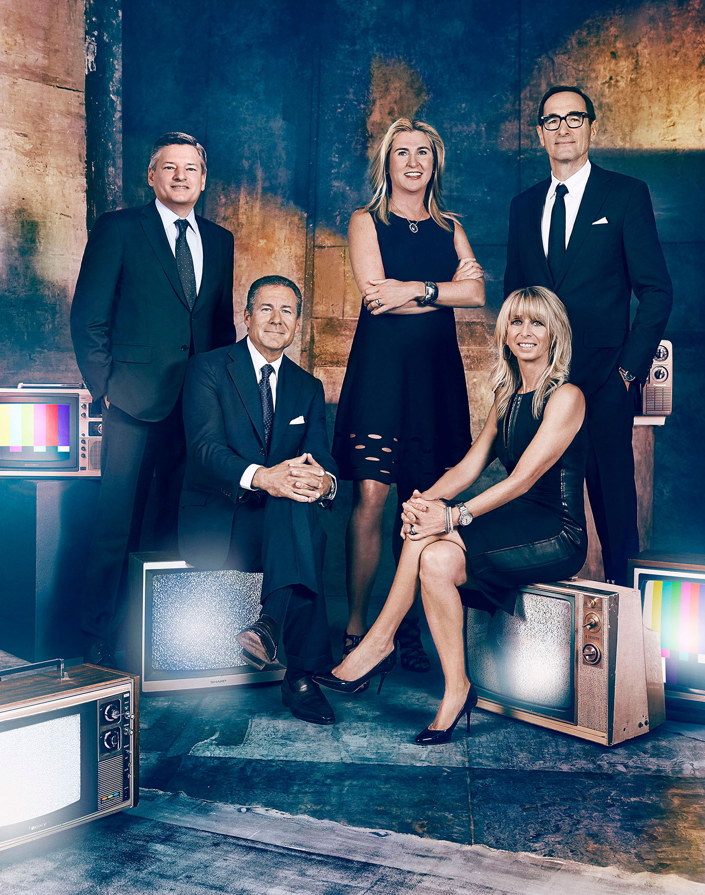 Nancy-Dubuc-Bonnie-Hammer-Richard-Plepler-Josh-Sapan--Ted-Sarandos